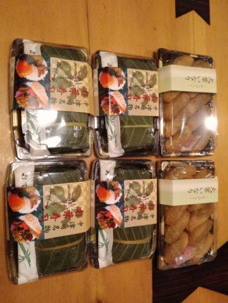 市田柿とブドウのお客様